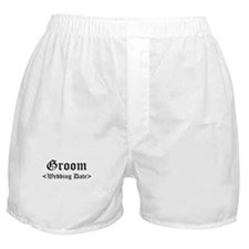 Groom (Type In Your Wedding Date) Boxer Shorts