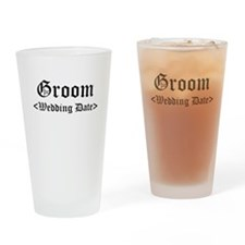 Groom (Type In Your Wedding Date) Drinking Glass