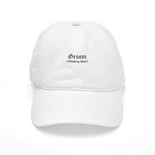 Groom (Type In Your Wedding Date) Baseball Cap