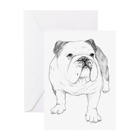 Bulldog Drawing Greeting Card