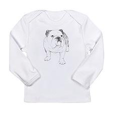 Bulldog Drawing Long Sleeve Infant T-Shirt