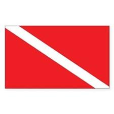 SCUBA DIVE FLAG Rectangle Decal