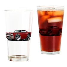 1969 Roadrunner Maroon Car Drinking Glass