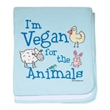 Vegan for Animals baby blanket