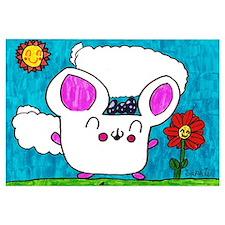 Happy Time Hamster Girl Print