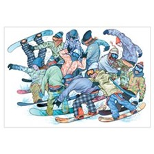 - Dude Patch of Snowboarders