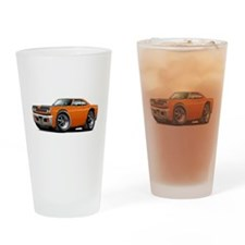 1969 Roadrunner Orange-Black Drinking Glass