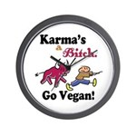Vegan Karma Wall Clock