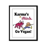 Vegan Karma Framed Panel Print