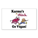 Vegan Karma Sticker (Rectangle)