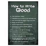 How to Write Good 11x17 , Chalkboard