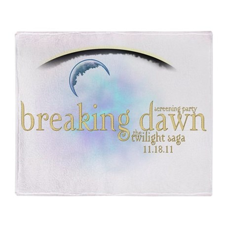 Breaking Dawn Clouds Throw Blanket