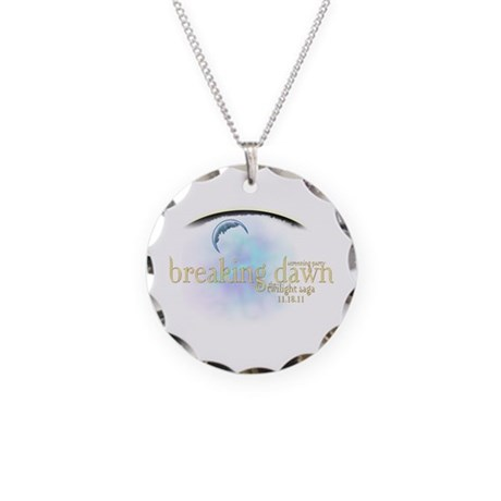 Breaking Dawn Clouds Necklace Circle Charm