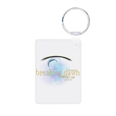 Breaking Dawn Clouds Aluminum Photo Keychain