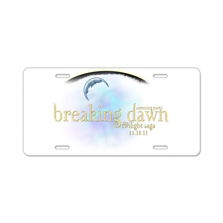 Breaking Dawn Clouds Aluminum License Plate