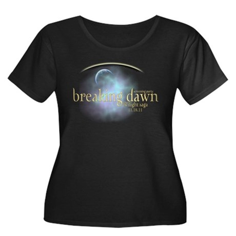 Breaking Dawn Clouds Women's Plus Size Scoop Neck