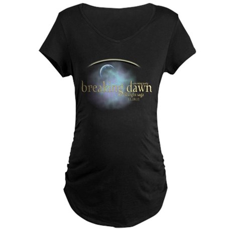 Breaking Dawn Clouds Maternity Dark T-Shirt