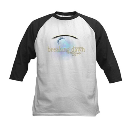 Breaking Dawn Clouds Kids Baseball Jersey