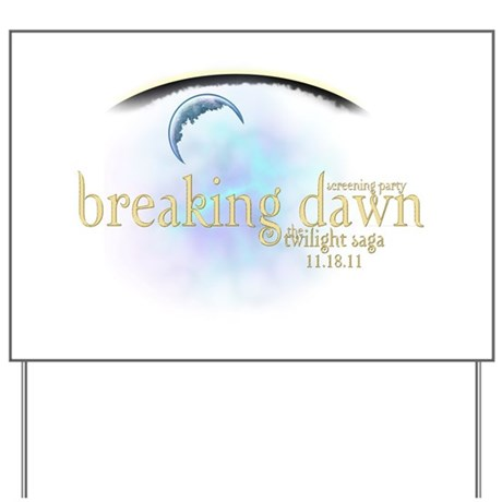 Breaking Dawn Clouds Yard Sign