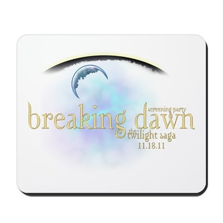 Breaking Dawn Clouds Mousepad