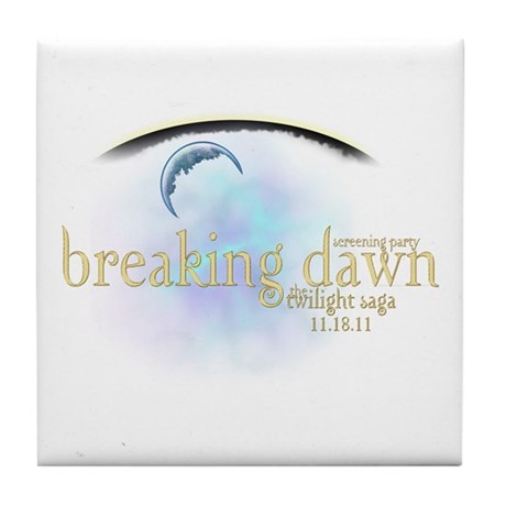 Breaking Dawn Clouds Tile Coaster
