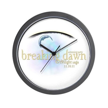 Breaking Dawn Clouds Wall Clock