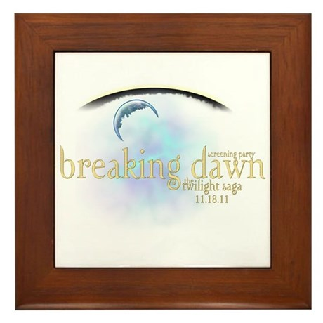 Breaking Dawn Clouds Framed Tile