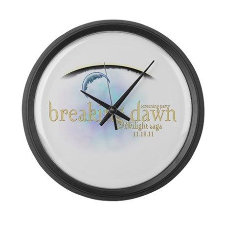 Breaking Dawn Clouds Large Wall Clock