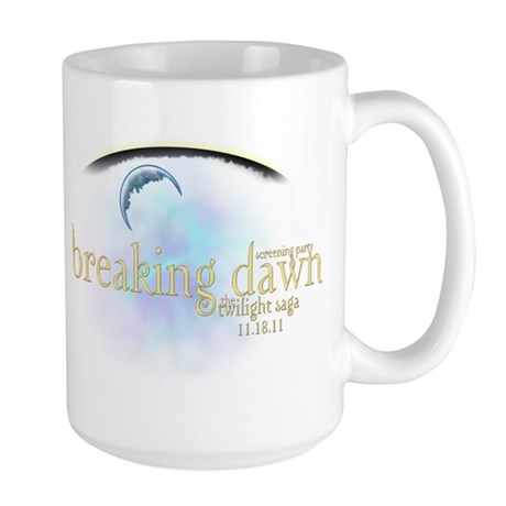 Breaking Dawn Clouds Large Mug