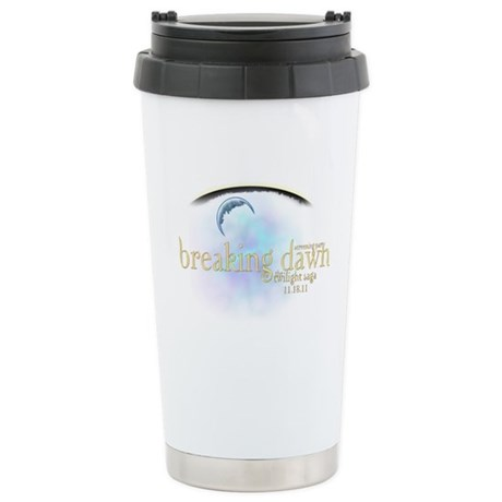 Breaking Dawn Clouds Stainless Steel Travel Mug