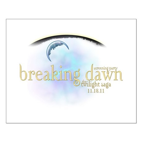 Breaking Dawn Clouds Small Poster
