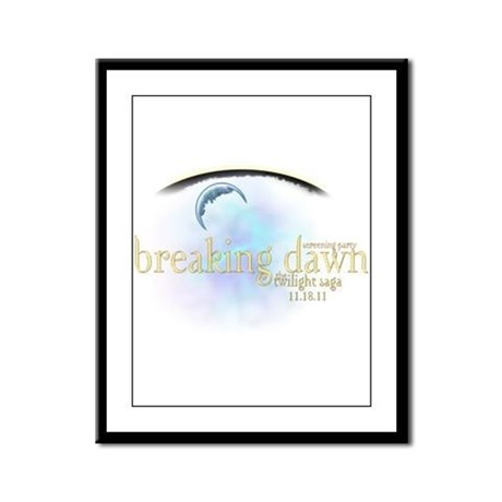 Breaking Dawn Clouds Framed Panel Print