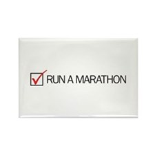 Run a Marathon Check Box Rectangle Magnet