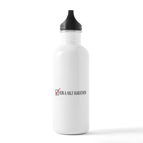 Run a Half Marathon Check Box Stainless Water Bott
