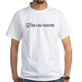 Run a Half Marathon Check Box Shirt