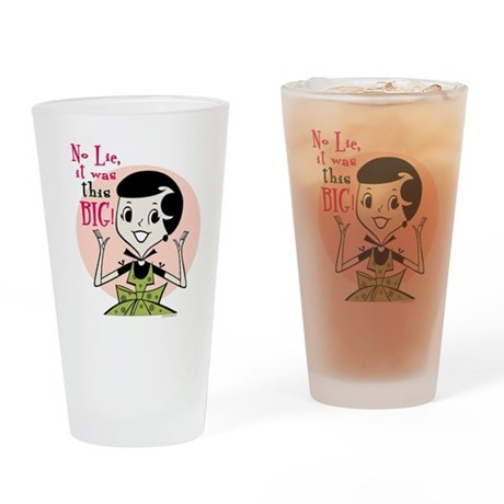 Girl Talk Drinking Glass