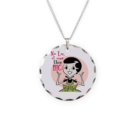 Girl Talk Necklace Circle Charm