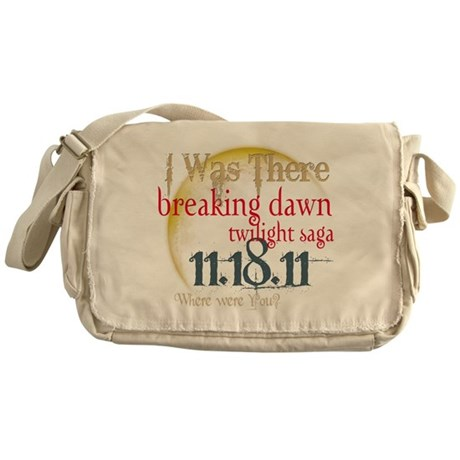 Breaking Dawn I Was There Messenger Bag