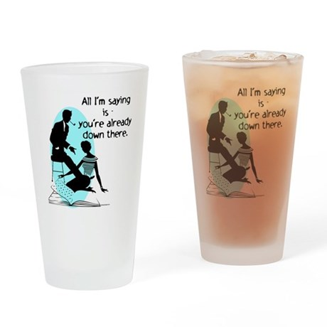 Oral Sex Talk Drinking Glass