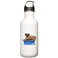 Boxer Grandpa Water Bottle