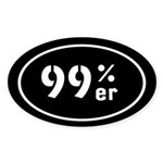 99ers Occupy Wall St Sticker (Oval 10 pk)