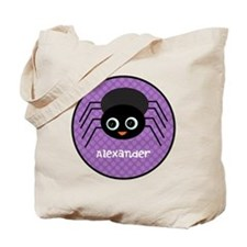 Purple Halloween Spider Tote Bag