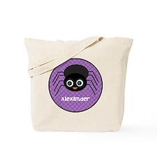 Purple Halloween Spider Tote Bag