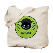 Green Halloween Spider Tote Bag