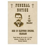 Doc Holliday Funeral Notice Print