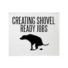 Shovel Ready Throw Blanket