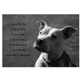 Cute Pitbull ban Wall Art