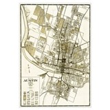 1925 Austin Texas Map