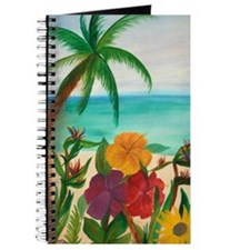 Tropical Floral Beach Journal