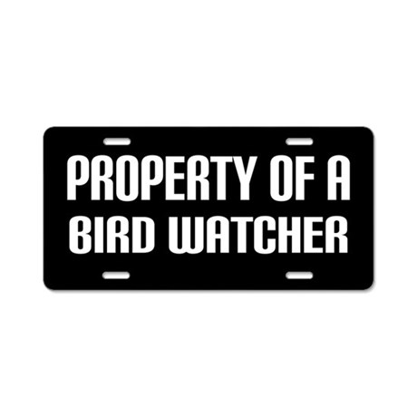 Bird Watching License Plate